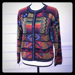 5/$20 Multicolor geometric cardigan sweater